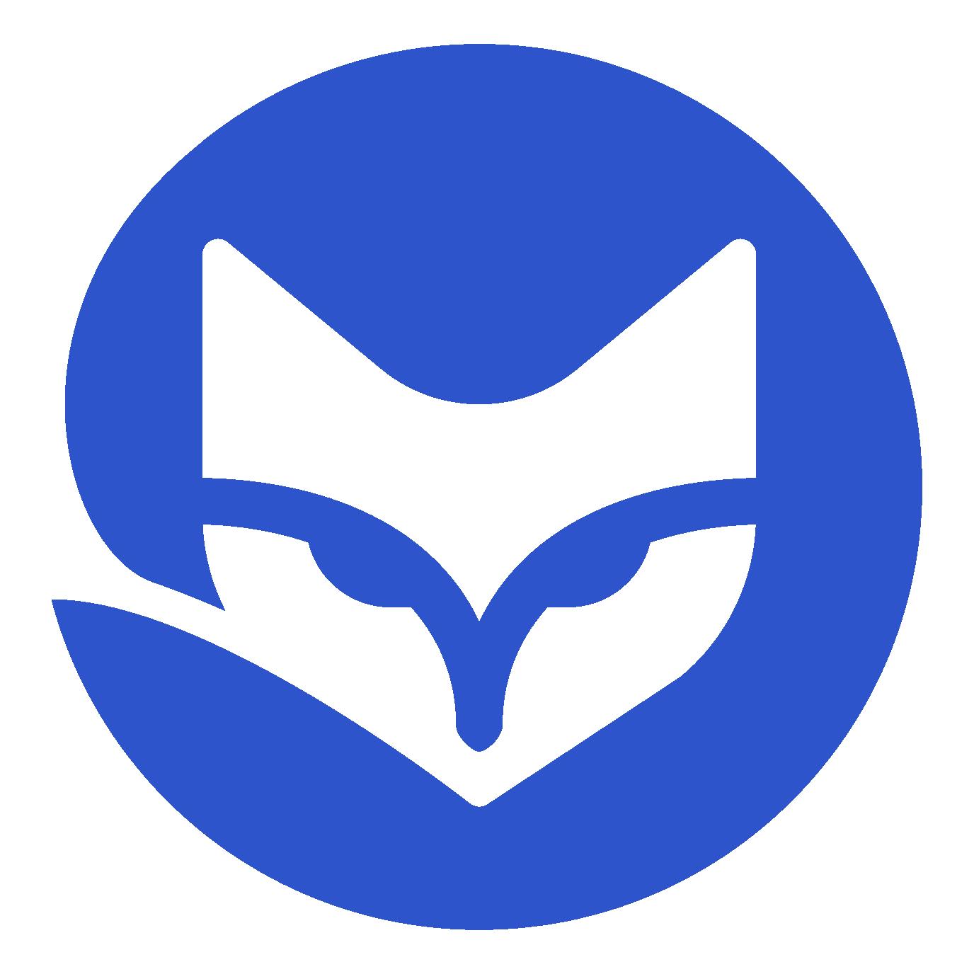 Fox Logo blue big